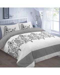 Owls duvet cover set - black