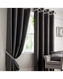 Palace Eyelet Curtains - Charcoal
