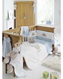 Embroidered Nursery Bedding Range - Patch - Blue