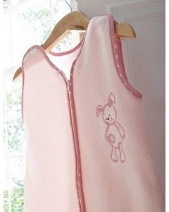 Embroidered sleep suit 3-9 months - Patch - Pink