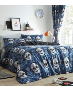 Pixel Skulls Duvet Cover Set