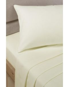 Percale Fitted Sheets - cream
