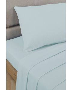 Percale Fitted Sheets - Duck Egg