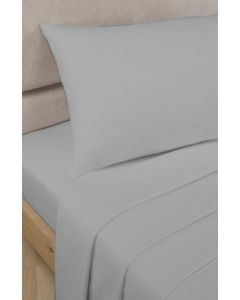 Percale Fitted Sheets - Grey