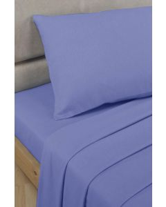 Percale Fitted Sheets - mid blue