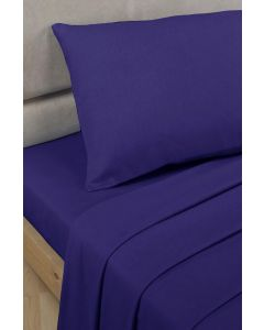 Percale Fitted Sheets - navy blue