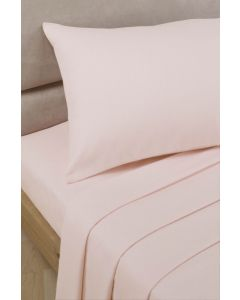 Percale Fitted Sheets - pink