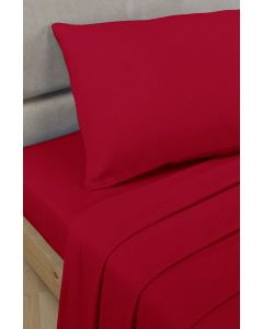Percale Fitted Sheets - red