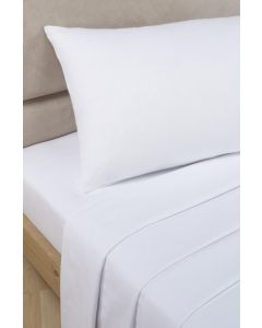 Percale Fitted Sheets - white