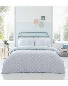 Catherine Lansfield Polka Dot Duvet Cover Set - Duck Egg Blue