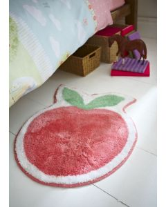 Girl's Rosy Red Apple Shaped Rug
