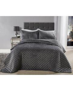 Regent Bedspread Set - Silver
