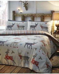 Reindeer Flannelette Duvet Cover sets - Multicolour