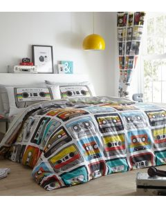 Retro Cassettes Duvet Cover Set