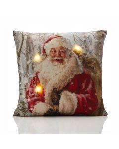 Santa Claus LED Cushion Cover - 45 x 45cm