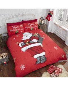 Santa Stop Here Duvet Cover Set