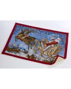 Santa Sleigh Door Mat