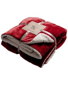 Sherpa Throw - Red - 152x177cm
