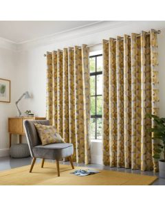 Skandi Eyelet Curtains - Ochre
