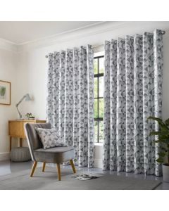 Skandi Eyelet Curtains - Silver