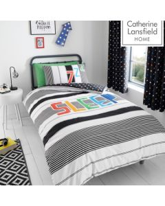 Catherine Lansfield Sleep Glow In The Dark Duvet Cover Set