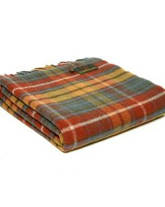 All Wool Tartan Antique Buchanan Throw - 70x183cm