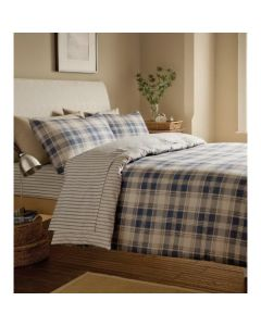 Tartan Navy Fitted Sheets