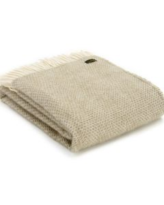 All Wool Beehive Throw - Oatmeal - 150x183cm