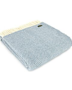All Wool Beehive Throw - Petrol Blue - 150x183cm