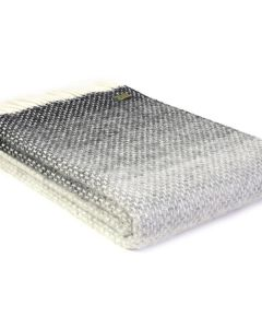 All Wool Ombre Throw - Pebble Grey - 130x200cm