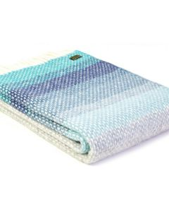 All Wool Ombre Throw - Seaside Blue - 130x200cm