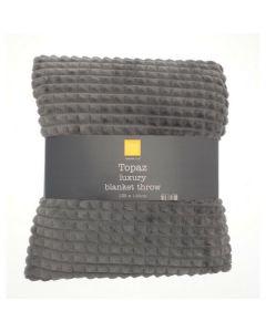 Topaz Blanket - Charcoal Grey