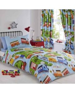 Trains Duvet Cover Set - Blue