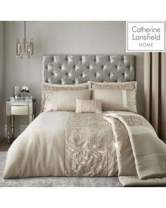 Catherine Lansfield Velvet Sparkle Bedding - Champagne