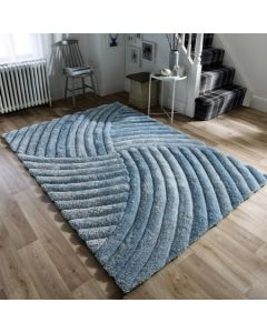 Verge Furrow Rug - Duck Egg