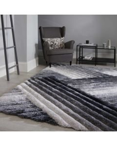 Verge Lattice Rug - Grey/Silver