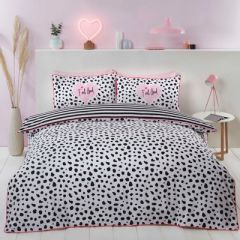 Dalmation Piped Edge Duvet Cover Set - Black and White