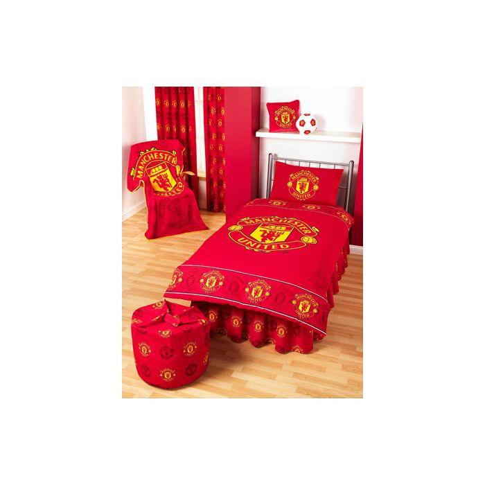 Manchester United Single Borders Duvet Cover Man Utd Quilt Cover Manchester United Bedding On Line