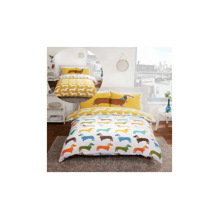 sausage dog double duvet cover